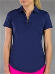 Jofit Jacquard Short Sleeve Polo - Blue Depth