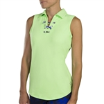 JoFit Lace Up Sleeveless Polo - Honeydew