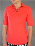Jofit Lace Up Half Sleeve Polo - Calypso