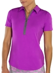 JoFit Ibiza Lotus Pink Short Sleeve Polo