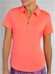 Jofit Performance Short Sleeve Polo - Flamingo