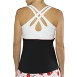 JoFit Loop Back Tank - Black/White