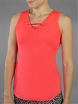 Jofit Lace Up Tennis Tank - Calypso