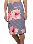 JoFit Slip On Skirt – Stripe Floral