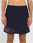 Jofit Long Embroidered Mina Golf Skort - Midnight