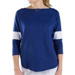 JoFit Passport 3/4 Sleeve Terry Pullover Blue Depth