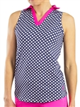 JoFit Tech Cut Away Sleeveless Polo - Diamond