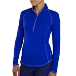 JoFit Brushed Long Sleeve Mock - Blueberry