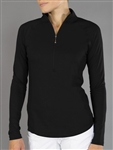 JoFit Brushed Long Sleeve Mock - Black