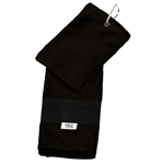 Glove It Black Mesh Stripe Golf Towel