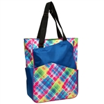 Glove It Electric Plaid Tennis Tote