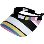 Glove It Cabana Stripe Golf Visors (w/Twist Cord)