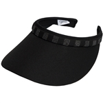 Glove It Slide On Golf Visor - Black Bling Square Crystals