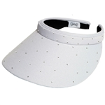 Glove It Slide On Golf Visor - White, Crystals