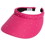 Glove It Slide On Golf Visor - Pink , Crystals