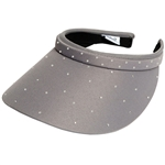 Glove It Slide On Golf Visor - Grey, Crystals