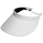 Glove It Slide On Golf Visor - White with Crystal trim