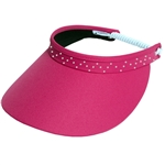 Glove It Slide On Golf Visor - Pink with Crystal trim