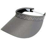 Glove It Slide On Golf Visor - Grey with Crystal trim