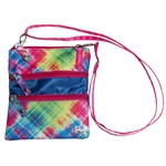 Glove It Electric Plaid 3-Zip Cross Body Bag