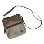 Glove It 2-Zip Cross Body Bag - Mixed Metal