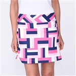 Golftini All Square Pull On Tech Golf Skort