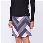 Golftini Twilight Patchwork Pull On Tech Golf Skort