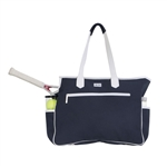 Ame & Lulu Kensington Court Bag - Navy/White