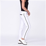 Golftini Trophy Pull-On Stretch Twill Pant - White