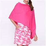 Golftini Cotton Cashmere Hot Pink Poncho