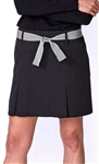 Golftini Performance Pleat Golf Skort - Black