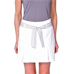 Golftini Performance Pleat White Golf Skort