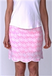 Golftini Cotton Golf Skort - Flower Power Pink