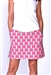 Golftini Pink Zebra Stretch Cotton Golf Skort