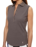 Golftini Sleeveless Eyelet Grey Polo