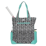 Ame & Lulu Black Shutters Tennis Tote