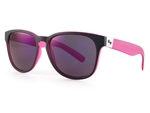Sundog Freestyle Polycarbonate Lens Sunglasses - Matte Black/Pink