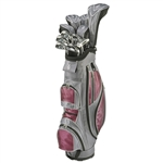Nancy Lopez Ashley Grey/Burgundy Golf Clubs & Bag