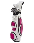 Nancy Lopez Ashley White/Metallic Pink Golf Clubs & Bag