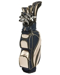 Nancy Lopez Flame Black/Metallic Gold Golf Clubs & Bag