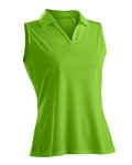 Nancy Lopez Luster Palm Sleeveless Polo