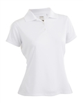 Nancy Lopez Luster White Short Sleeve Polo