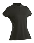 Nancy Lopez Luster Black Short Sleeve Polo