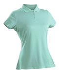 Nancy Lopez Luster Aqua Short Sleeve Polo