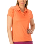 Nancy Lopez Luster Tangerine Short Sleeve Polo