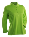 Nancy Lopez Luster Palm 3/4 Sleeve Polo