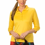 Nancy Lopez Luster Amber 3/4 Sleeve Polo