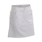 Nancy Lopez Charming White Golf Skort
