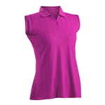 Nancy Lopez Grace Hot Pink Sleeveless Polo