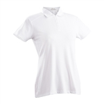 Nancy Lopez Grace White Short Sleeve Polo
